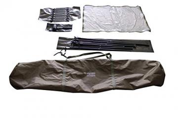 MK-Angelsport 2 Personen Karpfenzelt mit - 3,02x2,92x1,65m großes, wasserfestes Fort Knox 2.0 Angelzelt - 160cm hohe Innenkabine - temperaturstabiles Anglerzelt - 7