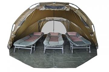 MK-Angelsport 5 Seasons Dome 3,5 Mann deluxe Zelt Karpfenzelt Angelzelt incl.Gummihammer - 2