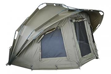 MK-Angelsport Fort Knox 2 Personen Zelt Karpfenzelt Angelzelt komplettes Set incl. Gummihammer Dome Bivvy - 3