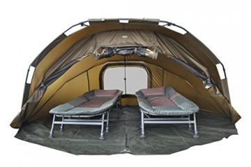 MK-Angelsport Fort Knox 2 Personen Zelt Karpfenzelt Angelzelt komplettes Set incl. Gummihammer Dome Bivvy - 8