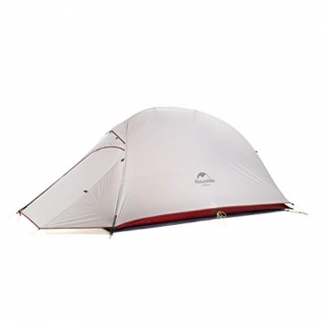 Naturehike Cloud-up Ultraleichte 1 Personen Single Zelt 3-4 Saison Camping Zelt (20D Grau Upgrade) - 2