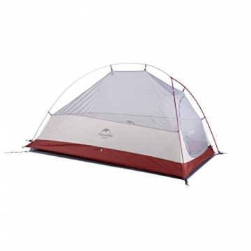 Naturehike Cloud-up Ultraleichte 1 Personen Single Zelt 3-4 Saison Camping Zelt (20D Grau Upgrade) - 3
