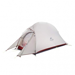 Naturehike Cloud-up Ultraleichte 1 Personen Single Zelt 3-4 Saison Camping Zelt (20D Grau Upgrade) - 1