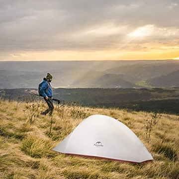 Naturehike Cloud-up Ultraleichte 1 Personen Single Zelt 3-4 Saison Camping Zelt (20D Grau Upgrade) - 7