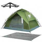 Night Cat Zelt 2 3 Personen Mann Wasserdicht Pop Up Zelt Camping Atmungsaktiv Einfache Einrichtungs für Outdoor Wandern Doppelschicht - 1