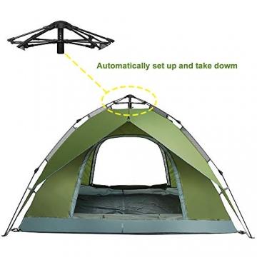 Night Cat Zelt 2 3 Personen Mann Wasserdicht Pop Up Zelt Camping Atmungsaktiv Einfache Einrichtungs für Outdoor Wandern Doppelschicht - 4