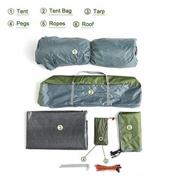 Night Cat Zelt 2 3 Personen Mann Wasserdicht Pop Up Zelt Camping Atmungsaktiv Einfache Einrichtungs für Outdoor Wandern Doppelschicht - 7