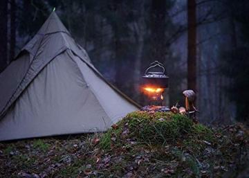 OneTigris Ultraleicht Pyramiden-Zelt mit Bergstock Campingzelt für 2 Personen |MEHRWEG Verpackung (Coyote Braun) - 2