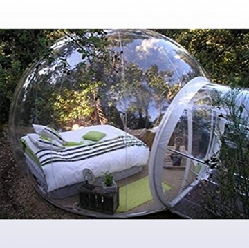 Outdoor-Tunnel Hinterhof Durchsichtige Luft Kuppelzelt, Single Aufblasbare Bubble Zelthaus Home Camping mit Gebläsen und Reparatur Ausrüstung,C - 2
