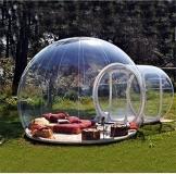 Outdoor-Tunnel Hinterhof Durchsichtige Luft Kuppelzelt, Single Aufblasbare Bubble Zelthaus Home Camping mit Gebläsen und Reparatur Ausrüstung,C - 1