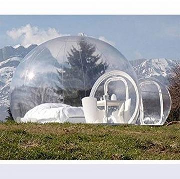 Outdoor-Tunnel Hinterhof Durchsichtige Luft Kuppelzelt, Single Aufblasbare Bubble Zelthaus Home Camping mit Gebläsen und Reparatur Ausrüstung,C - 5