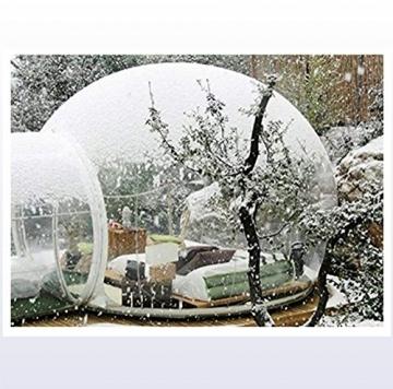 Outdoor-Tunnel Hinterhof Durchsichtige Luft Kuppelzelt, Single Aufblasbare Bubble Zelthaus Home Camping mit Gebläsen und Reparatur Ausrüstung,C - 6