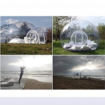 Outdoor-Tunnel Hinterhof Durchsichtige Luft Kuppelzelt, Single Aufblasbare Bubble Zelthaus Home Camping mit Gebläsen und Reparatur Ausrüstung,C - 7