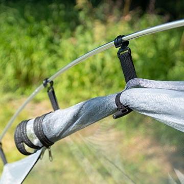 outdoorer Trekkingzelt für 1-2 Personen Trek It Easy 2, leichtes Schnellaufbau-Zelt, kleines Packmaß - 3