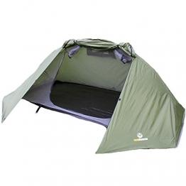 outdoorer Trekkingzelt für 1-2 Personen Trek It Easy 2, leichtes Schnellaufbau-Zelt, kleines Packmaß - 1