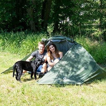outdoorer Trekkingzelt für 1-2 Personen Trek It Easy 2, leichtes Schnellaufbau-Zelt, kleines Packmaß - 4