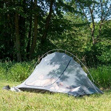 outdoorer Trekkingzelt für 1-2 Personen Trek It Easy 2, leichtes Schnellaufbau-Zelt, kleines Packmaß - 5