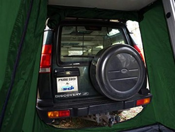Prime Tech Autodachzelt EXTENDED 320x140x130 cm in dunkelgrün - 5