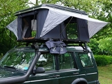 Prime Tech Hartschalen-Autodachzelt Nevada 140cm ABS schwarz/grau automatik - 1