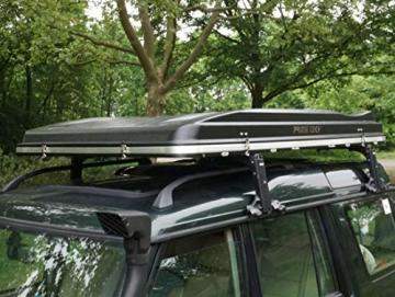 Prime Tech Hartschalen-Autodachzelt Nevada 140cm ABS schwarz/grau automatik - 2