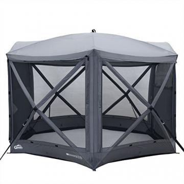 Qeedo Quick Hub 20 Pop Up Pavillon (380 x 380 cm), Pavillon Camping, Event Shelter & Vorzelt wasserdicht - 2