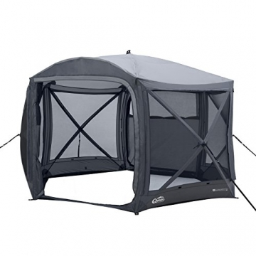 Qeedo Quick Hub 20 Pop Up Pavillon (380 x 380 cm), Pavillon Camping, Event Shelter & Vorzelt wasserdicht - 1