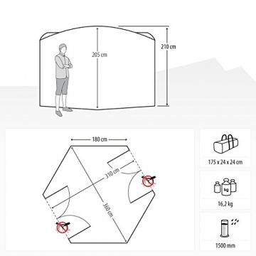 Qeedo Quick Hub 20 Pop Up Pavillon (380 x 380 cm), Pavillon Camping, Event Shelter & Vorzelt wasserdicht - 7