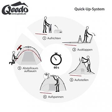 Qeedo Sekundenzelt Quick Pine 3, Campingzelt - grün - 2