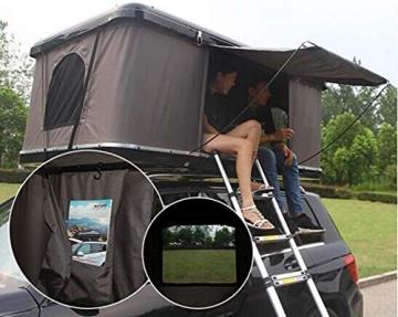 Qnlly Pop Up Outdoor Fastfit Hartschalenturm Dach 4WD Dachzelt für Autos LKW SUVs Camping Travel Mobile - 2