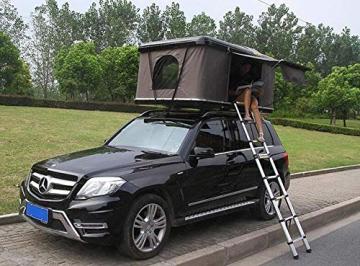 Qnlly Pop Up Outdoor Fastfit Hartschalenturm Dach 4WD Dachzelt für Autos LKW SUVs Camping Travel Mobile - 1