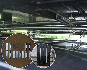 Qnlly Pop Up Outdoor Fastfit Hartschalenturm Dach 4WD Dachzelt für Autos LKW SUVs Camping Travel Mobile - 5