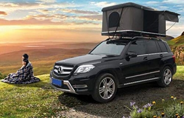Qnlly Pop Up Outdoor Fastfit Hartschalenturm Dach 4WD Dachzelt für Autos LKW SUVs Camping Travel Mobile - 6