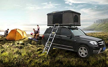 Qnlly Pop Up Outdoor Fastfit Hartschalenturm Dach 4WD Dachzelt für Autos LKW SUVs Camping Travel Mobile - 7
