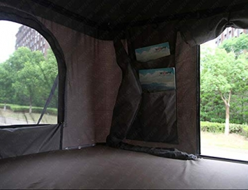 Qnlly Pop Up Outdoor Fastfit Hartschalenturm Dach 4WD Dachzelt für Autos LKW SUVs Camping Travel Mobile - 8