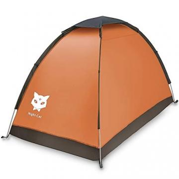 Ruckzuck Zelt 1 Personen Mann Wasserdicht Zelt Leicht Camping Atmungsaktiv Einfache Einrichtungs für Outdoor Wandern Doppelschicht - 2