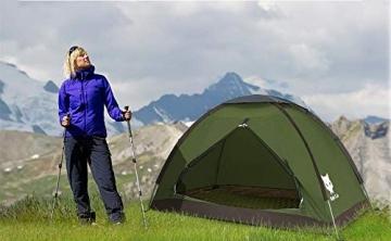 Ruckzuck Zelt 1 Personen Mann Wasserdicht Zelt Leicht Camping Atmungsaktiv Einfache Einrichtungs für Outdoor Wandern Doppelschicht - 3