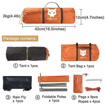 Ruckzuck Zelt 1 Personen Mann Wasserdicht Zelt Leicht Camping Atmungsaktiv Einfache Einrichtungs für Outdoor Wandern Doppelschicht - 5