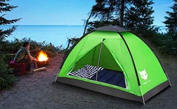 Ruckzuck Zelt 1 Personen Mann Wasserdicht Zelt Leicht Camping Atmungsaktiv Einfache Einrichtungs für Outdoor Wandern Doppelschicht - 7