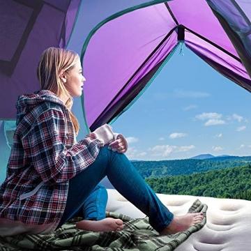 Sable Pop Up Zelt 3 Personen Wurfzelt zweischichtiges Kuppelzelt Winddicht Wasserdicht und Schnellaufbau für Camping Trekking Outdoor, 210 x 190 x 120 cm, Kleines Packmaß, inkl. Aufbewahrungstasche - 3