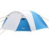 SAFACUS 4 Mann Camping Zelt, mit Vorraum; Iglu-Zelt für 4 Personen (doppelwandig) - blau, Mit Kleinem Packmaß, Outdoor, Festival - 1