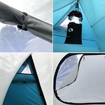 SAFACUS 4 Mann Camping Zelt, mit Vorraum; Iglu-Zelt für 4 Personen (doppelwandig) - blau, Mit Kleinem Packmaß, Outdoor, Festival - 4