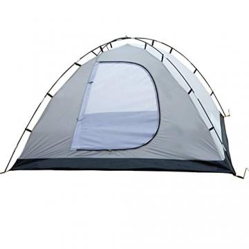 SAFACUS 4 Mann Camping Zelt, mit Vorraum; Iglu-Zelt für 4 Personen (doppelwandig) - blau, Mit Kleinem Packmaß, Outdoor, Festival - 6