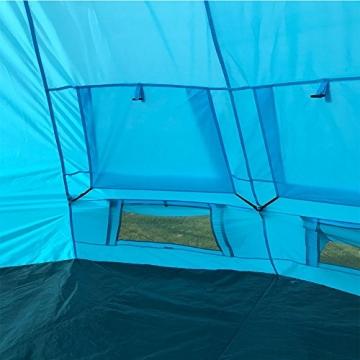 SAFACUS Tipi Zelt (Teepee),Indianerzelt, 4-6 Personen Familien Camping Zelt Pyramidenzelt, Doppeltür, Festival, Campingurlaub - 5