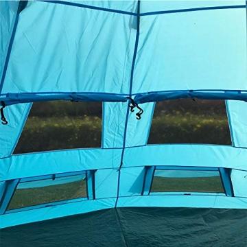 SAFACUS Tipi Zelt (Teepee),Indianerzelt, 4-6 Personen Familien Camping Zelt Pyramidenzelt, Doppeltür, Festival, Campingurlaub - 6