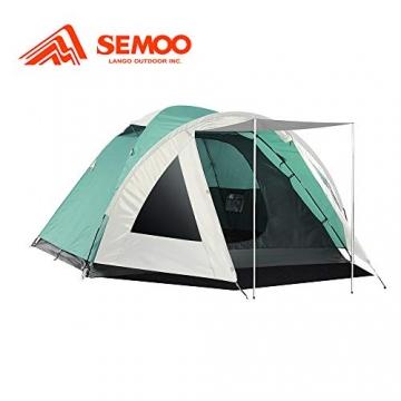 Semoo Kuppelzelt für 3-4 Personen 3-Jahreszeiten, Familien Campingzelt Wasserdichtes Igluzelt Doppelschicht mit Vorraum - 1