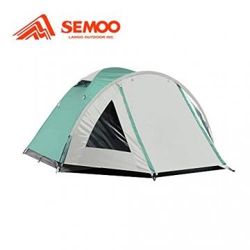 Semoo Kuppelzelt für 3-4 Personen 3-Jahreszeiten, Familien Campingzelt Wasserdichtes Igluzelt Doppelschicht mit Vorraum - 5