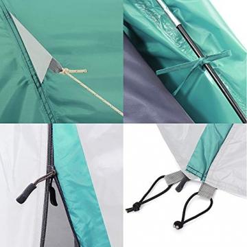 Semoo Kuppelzelt für 3-4 Personen 3-Jahreszeiten, Familien Campingzelt Wasserdichtes Igluzelt Doppelschicht mit Vorraum - 7