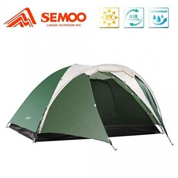 Semoo Leichtgewicht Campingzelt 3 Personen, für 4 Jahreszeiten, D-Eingang, mit Moskitonetz, mit Tragetasche - 1