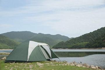 Semoo Leichtgewicht Campingzelt 3 Personen, für 4 Jahreszeiten, D-Eingang, mit Moskitonetz, mit Tragetasche - 6