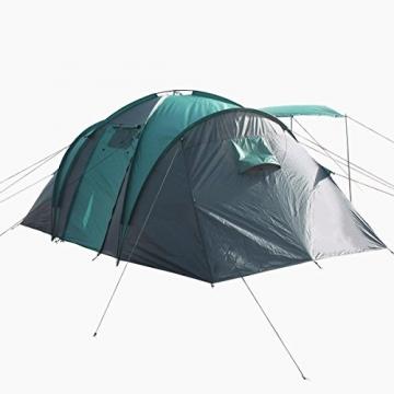 Semoo - Zelt für 4 Personen - Wasserdicht - 2 Schlafkammern + Zwischenraum mit 2 Eingängen - 3-Jahreszeiten Familien-/Gruppenzelt - Blau/Grau - 3